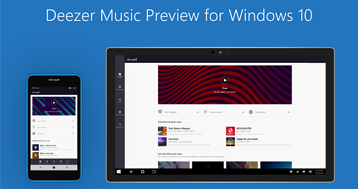 Download Deezer Preview for Windows 10