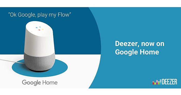 Deezer on Google's list of home features